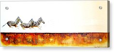 Zebra Crossing - Original Artwork Acrylic Print