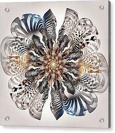 Zebra Flower Acrylic Print by Anastasiya Malakhova
