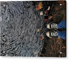Zebra Acrylic Print by Leslie George