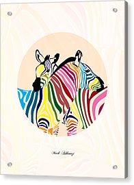 Zebra  Acrylic Print by Mark Ashkenazi