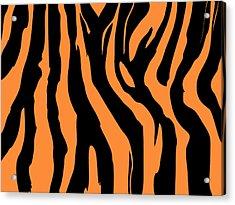 Zebra Print 004 Acrylic Print by Kenneth Feliciano