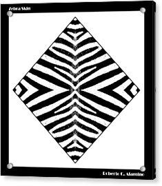 Zebra Skin Acrylic Print by Roberto Alamino