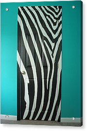 Zebra Stripe Mural - Door Number 1 Acrylic Print by Sean Connolly