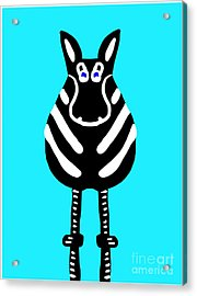 Zebra - The Front View Acrylic Print