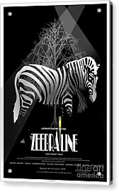 Zebraline Movie Poster Classic A Tribute To Ageth  Acrylic Print by Weiler WEILER