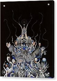 Acrylic Print featuring the mixed media Zebratiki by Douglas Fromm