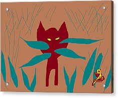 Zelda In The Grass Acrylic Print by Anita Dale Livaditis