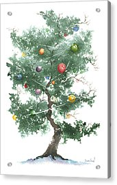 Zen Christmas Tree Acrylic Print by Sean Seal