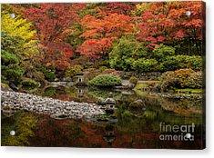 Zen Foliage Colors Acrylic Print by Mike Reid