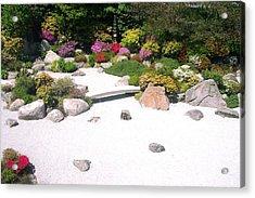 Zen Garden Acrylic Print by Pamela Schreckengost
