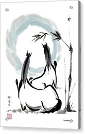 Acrylic Print featuring the painting Zen Horses Into The Vortex by Bill Searle