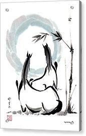 Zen Horses Into The Vortex Acrylic Print