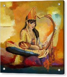 Zen In Music  Acrylic Print