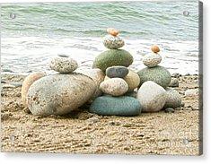 Zen Meditation Balance Acrylic Print by Artist and Photographer Laura Wrede