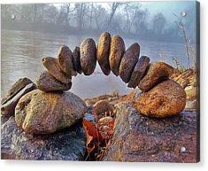 Zen Morning On The River Acrylic Print