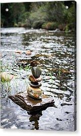 Zen River IIi Acrylic Print by Marco Oliveira