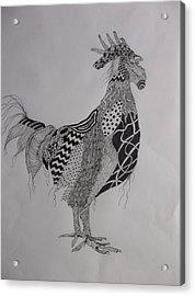 Zen Rooster Left Acrylic Print