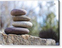 Zen Stones Acrylic Print by Ben ONeal