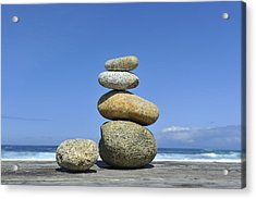 Zen Stones I Acrylic Print by Marianne Campolongo