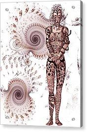 Zen Tangles Acrylic Print