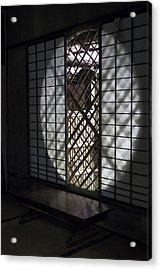 Zen Temple Window - Kyoto Acrylic Print by Daniel Hagerman