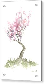 Zen Tree In Spring Acrylic Print by Sean Seal