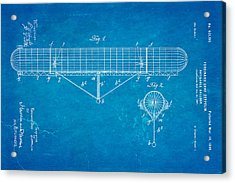 Zeppelin Navigable Balloon Patent Art 1899 Blueprint Acrylic Print