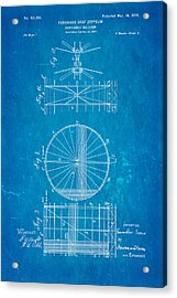 Zeppelin Navigable Balloon Patent Art 2 1899 Blueprint Acrylic Print