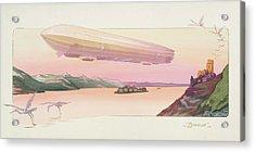 Zeppelin, Published Paris, 1914 Acrylic Print by Ernest Montaut