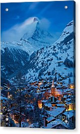 Zermatt - Winter's Night Acrylic Print