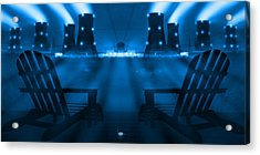 Zero Hour In Blue Acrylic Print by Mike McGlothlen