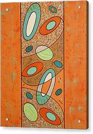 Zero Point Matrix Galaxy Five Acrylic Print by Debra Jacobson