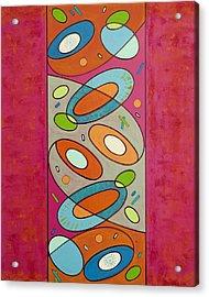 Zero Point Matrix Galaxy Four Acrylic Print by Debra Jacobson