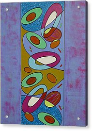 Zero Point Matrix Galaxy One Acrylic Print by Debra Jacobson