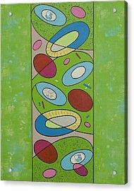 Zero Point Matrix Galaxy Three Acrylic Print by Debra Jacobson