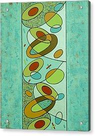Zero Point Matrix Galaxy Two Acrylic Print by Debra Jacobson