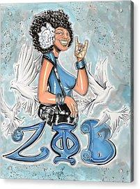 Zeta Phi Beta Sorority Inc Acrylic Print