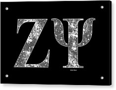 Zeta Psi - Black Acrylic Print by Stephen Younts