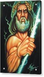 Zeus Acrylic Print by Christopher Fresquez