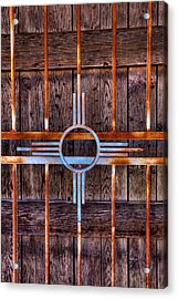 Zia Sun Symbol Gate Acrylic Print by David Patterson