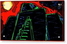 Ziggurat Nites Acrylic Print
