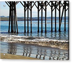 Acrylic Print featuring the photograph Zigzag Reflections by Walter Fahmy