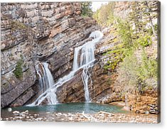 Acrylic Print featuring the photograph Zigzag Waterfall by John M Bailey