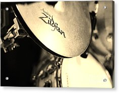 Zildjian Hi-hat Sepia Acrylic Print