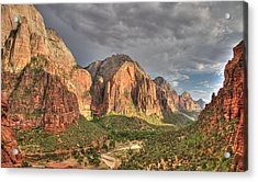 Acrylic Print featuring the photograph Zion Canyon by Jeff Cook