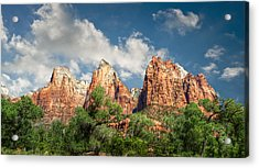 Acrylic Print featuring the photograph Zion Court Of The Patriarchs by Tammy Wetzel
