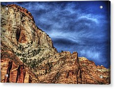 Zion Face 695 Acrylic Print by Jerry Sodorff