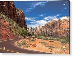 Zion Mount Carmel Highway Acrylic Print by Robert Bales