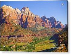 Zion Mountain Range Acrylic Print