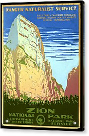 Zion National Park Ranger Naturalist Service  Acrylic Print by Unknown